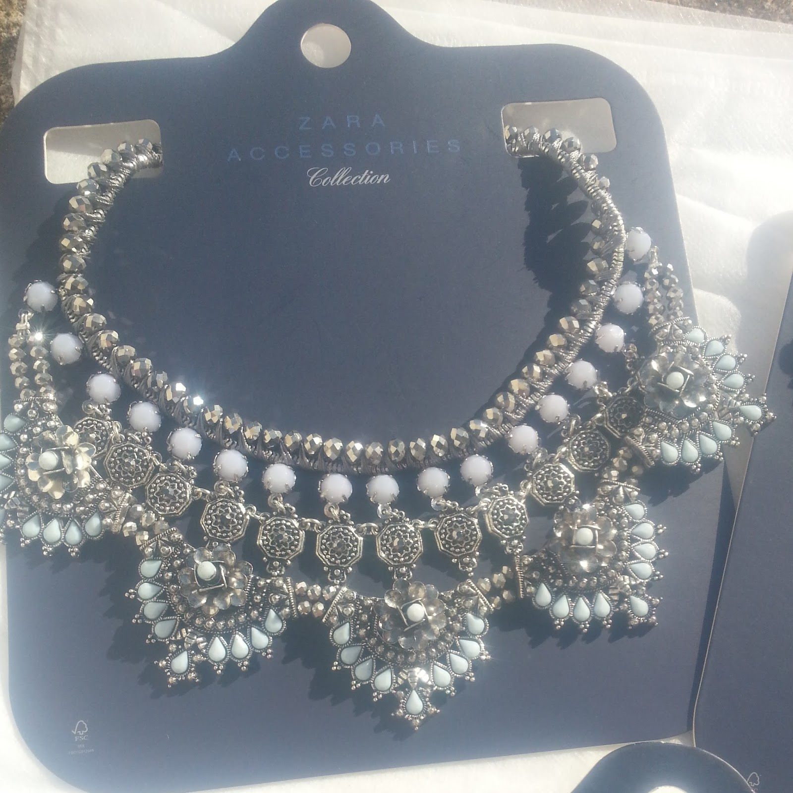 Zara, Statement Necklace, Silver, Jewellery, High Street
