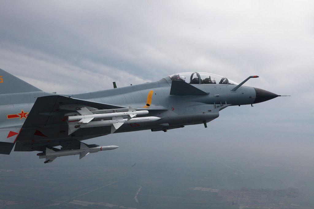 J-10S Vigorous Dragon Fighter Jet on Armed Patrol ...