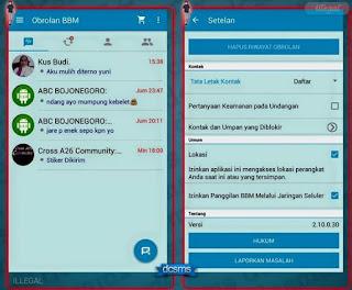 BBM Mod Pelangi Versi 2.10 Terbaru