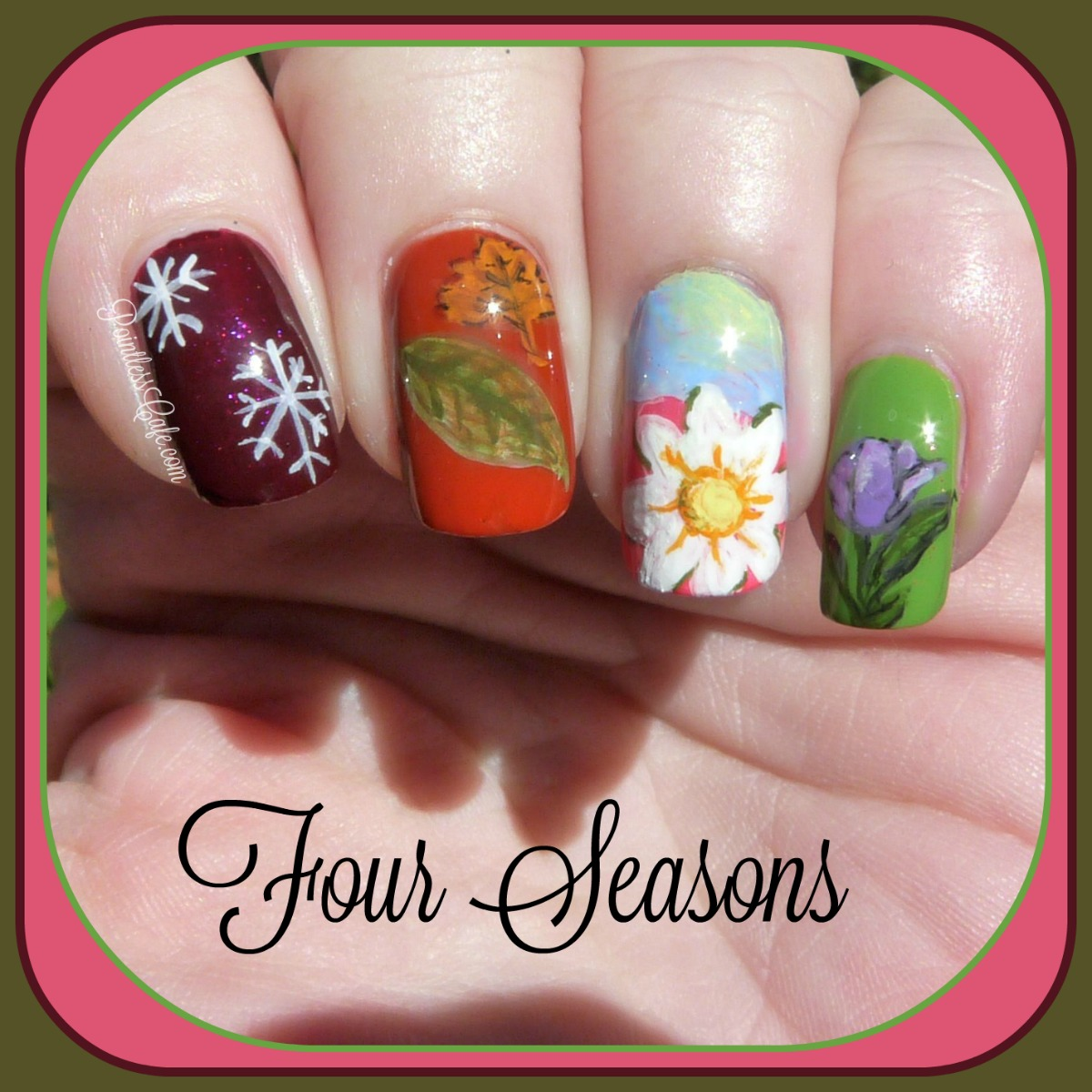 Nail of the Day- Four Seasons Nail Art | Pointless Cafe