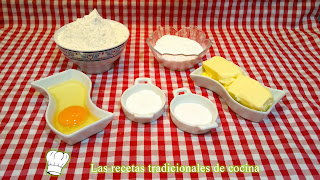ingredientes Galletas de mantequilla