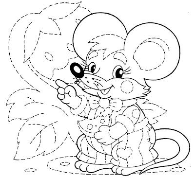 Desenho rato colorir