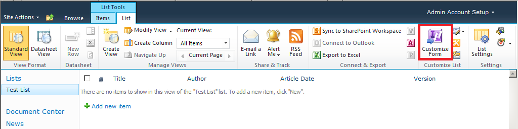 Matt's SharePoint Blog: Creating Views and Buttons or Tabs in ...