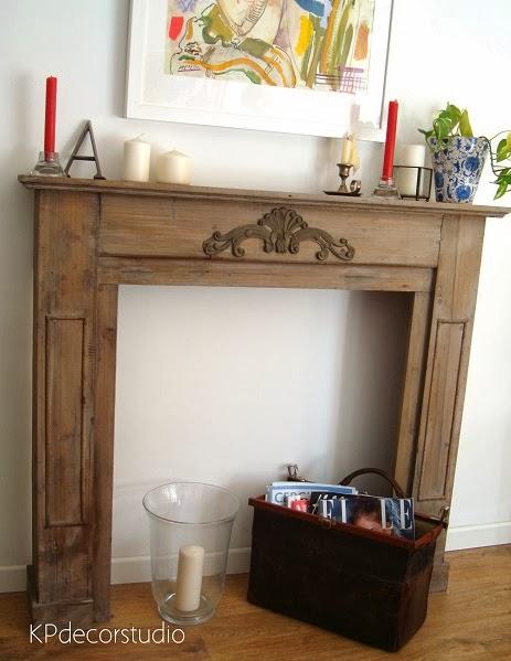 Comprar revistero vintage original. Chimenea de madera. Revisteros originales online.