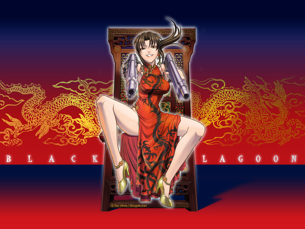 Rendered Beauty: Revy Wallpaper from Black Lagoon