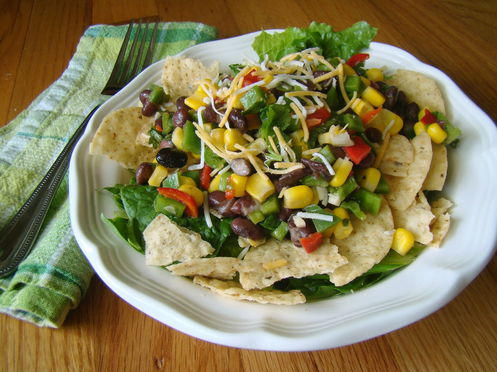 Black Bean Tortilla Chip Salad - Crowther Cafe