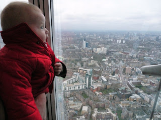 Freddie at the top of The Shard