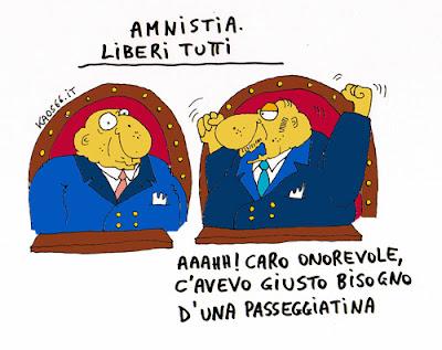 Vignetta Berlusconi amnistia