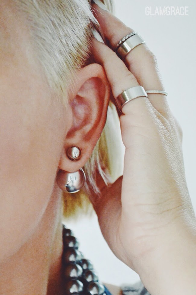 trending: double sided earrings / front and back earrings