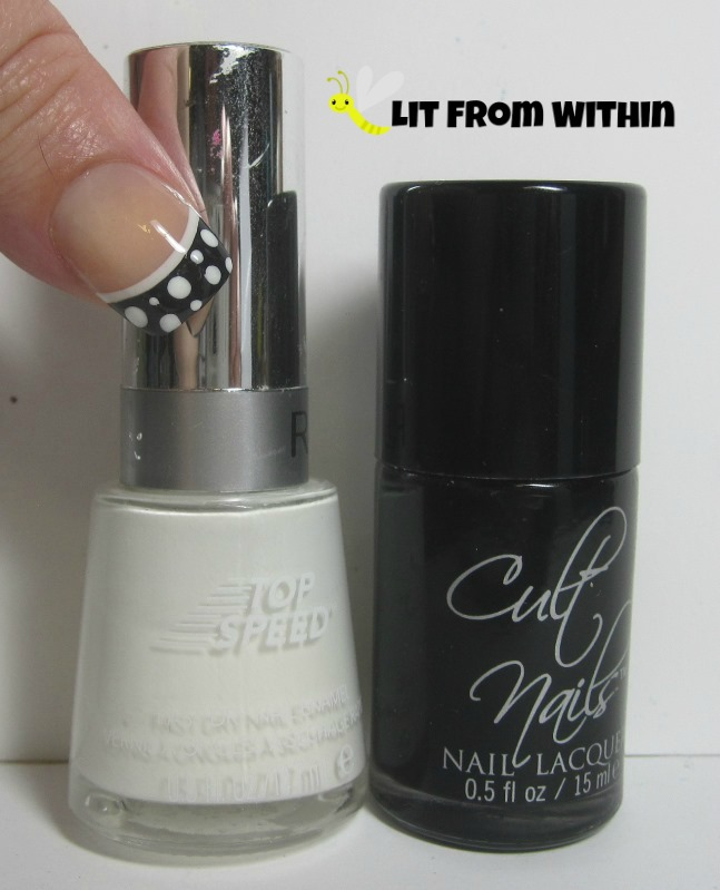 Bottle shot:  Revlon Spirit, and Cult Nails Nevermore.