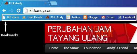 Cara Menambahkan Bookmarks di Google Chrome