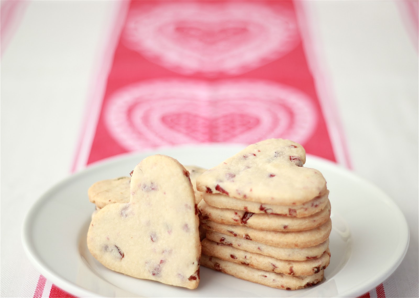 ... : Cherry Almond Shortbread Heart Cookies | Valentine's Day Cookies