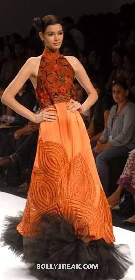 Diana Penty in orange dress - (24) - Diana Penty Hot Pics - Model Ramp Walk Fashion Show