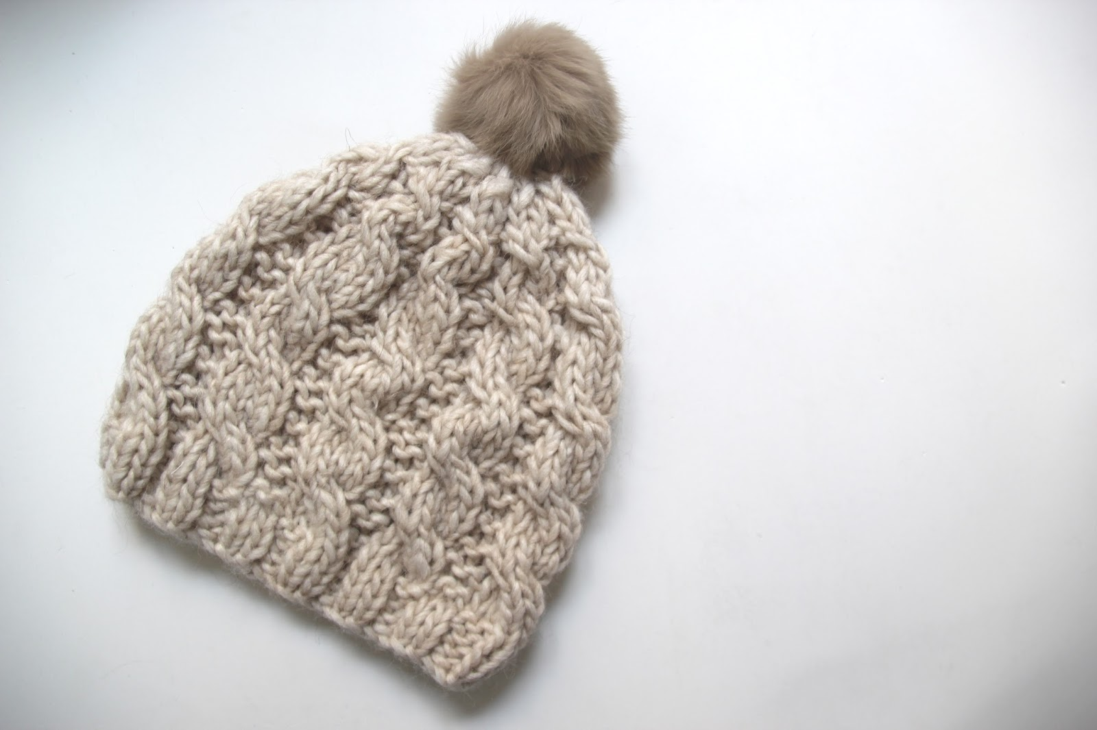 Contemporáneo Patrón Simple Gorro De Lana Ornamento - Manta de Tejer ...