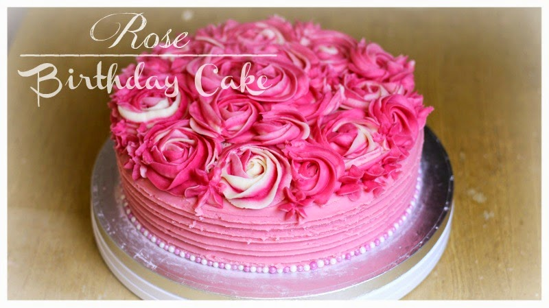 Rose Birthday Cake Hollysamanthaa Hollysamanthaatreatsplace