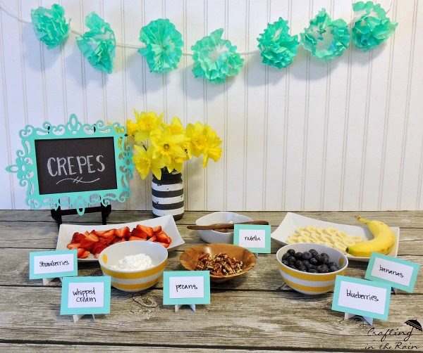 Easy Crepe Bar ||  Crafting in the Rain  **See recipe, tips and ideas for a fancy crepe party