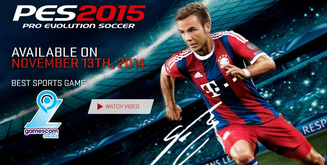 Pro Evolution Soccer 2015 Akan Rilis 13 November