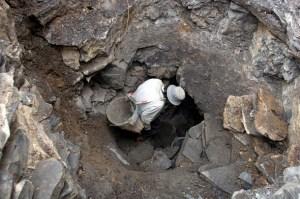 penggalian fosil naga