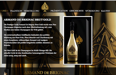 """""""Cattier Armand de Brignac Brut Gold"""" scheint designtechnisch für Pokerspieler gemacht worden zu sein. Zumindestens für die, die gerne um mehrstellige Summen spielen. Nein, Cent zählen nicht."""