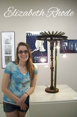 Elizabeth Rhode, BS Arts Degree, Found Objects Lamp