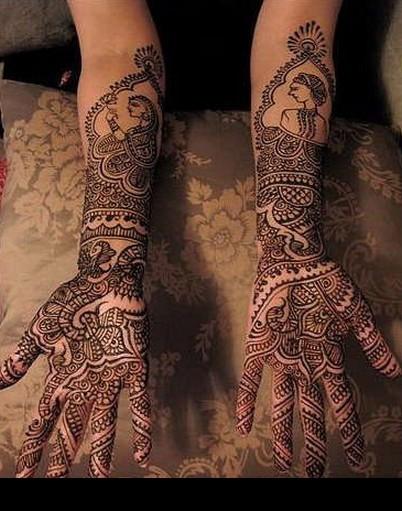 Mehndi Designs Ke : New floral mehndi designs for full hands celebrity beauty