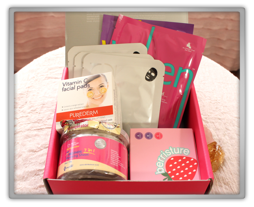 겟잇뷰티박스 by 미미박스 memebox beautybox # special #10 mask 4 unboxing review preview box look inside