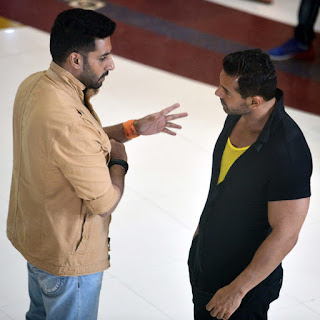 John Abraham, Abhishek Bachchan From the set of Hera Pheri 3