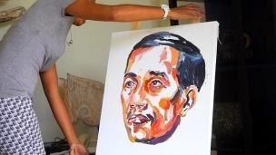Terpidana mti bali nine melukis wajah presiden jokowi