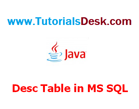 How To describe table structure in SQL Server