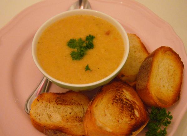 Swiss cheese soup, just like fondue