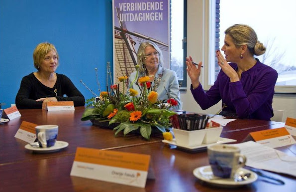 Queen Máxima of The Netherlands visited the Pijnacker-Nootdorpse Challenge in Nootdorp, that is supported by the Oranje Fonds Growth Programme