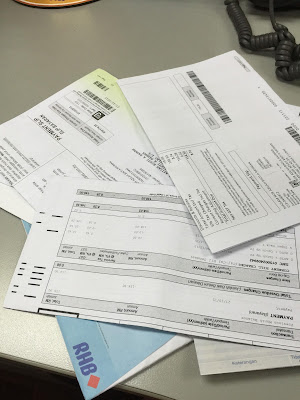 hari gaji datang lagi, gaji, urusan bil, bayar bil