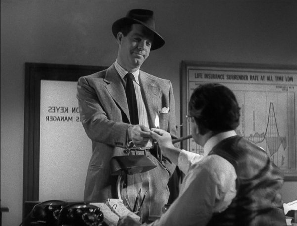 double indemnity character analysis Double indemnity analysis describe phyllis dietrichson's look: in the opening, at the very start o the film, there is a close up shot of the main character, called phyllis.