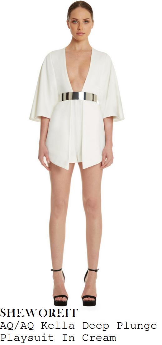 jasmin-walia-white-plunge-front-kimono-sleeve-overlay-playsuit