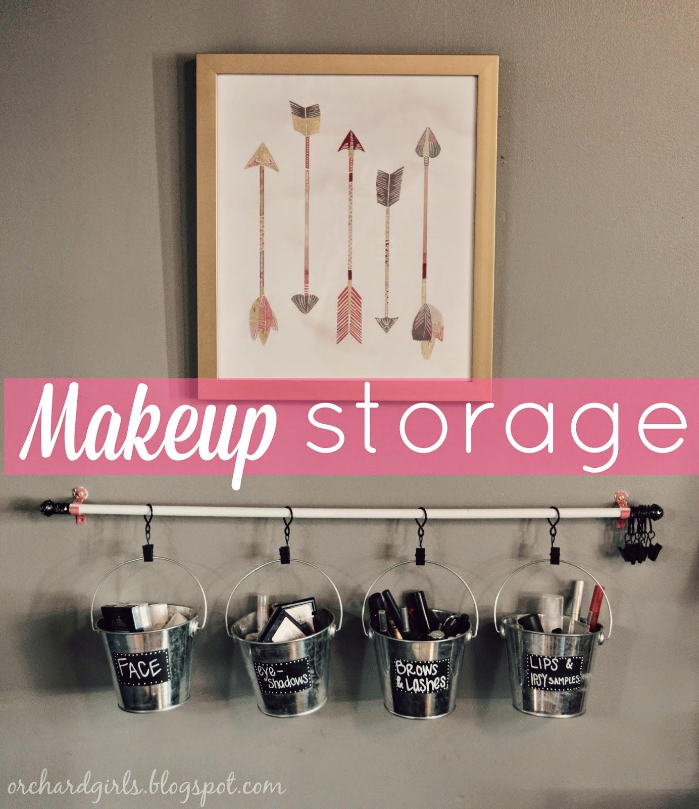 Orchard Girls: DIY Makeup Storage and Organization