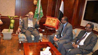 المرشد العام والسفير السوداني خلال اللقاء