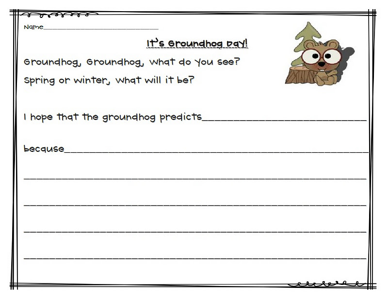 GROUNDHOG DAY ACTIVITIES~ Crafts, math, vocabulary, writing, and ...