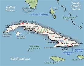 Mapa de Cuba 2012