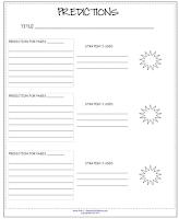 photo of predictions and strategies, free, pdf, teacherspayteachers.com, Ruth S.