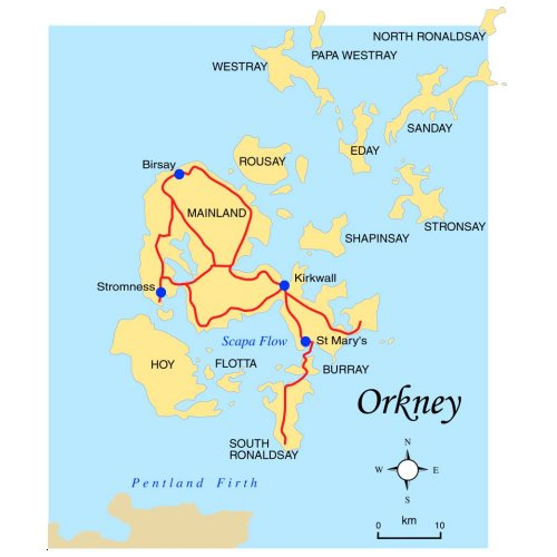 Orkney Islands On Map