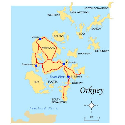 Map of Orkney Islands Province