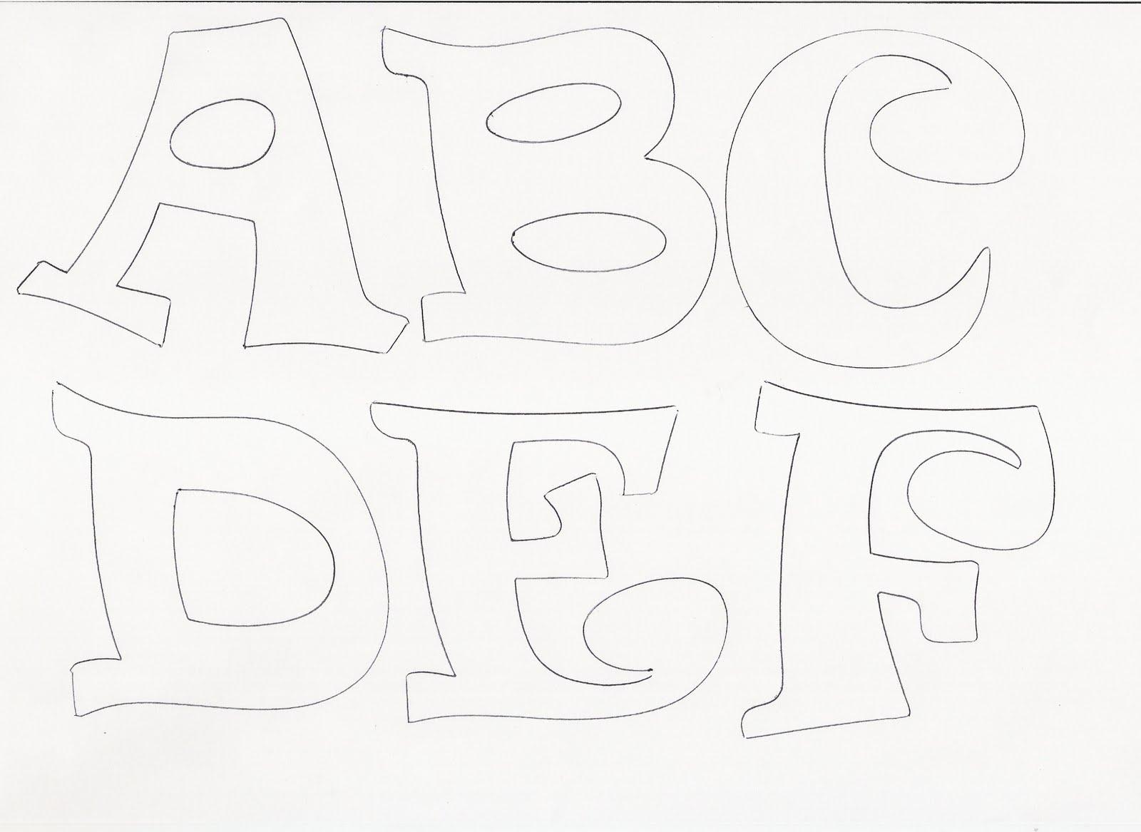 Moldes para hacer letras en goma eva - Imagui