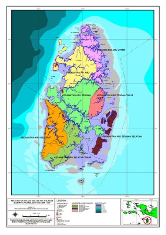 Peta Kepulauan Aru