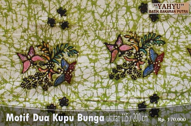 Batik Bakaran Dua Kupu Bunga ~ Batik Bakaran Yahyu Juwana