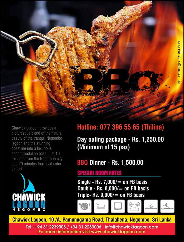 For Day Outings and BBQ Dinner at Negombo.