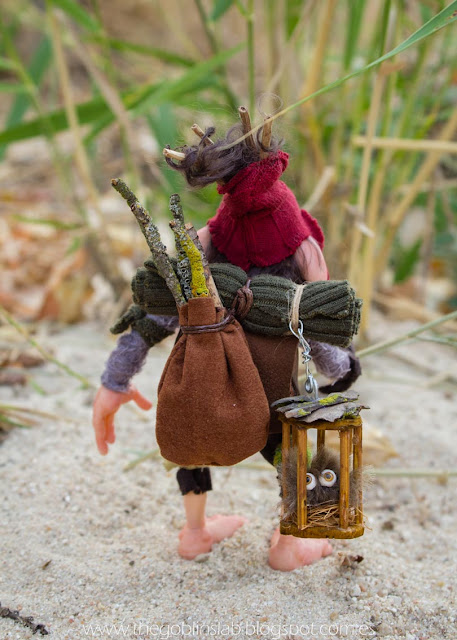 ooak criatura fantástica goblin duende viajero