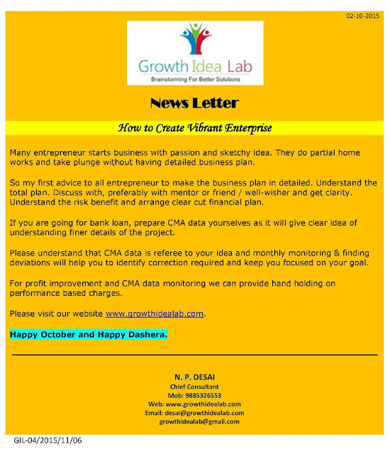 Newsletter 1 - Growth Idea Lab