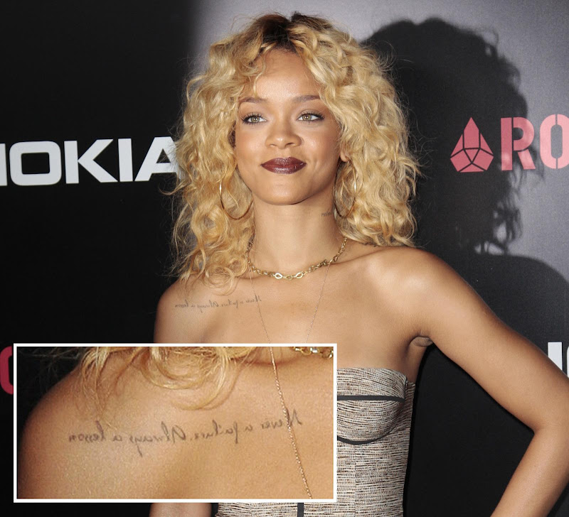The meaning of Rihanna's Tattoos title=