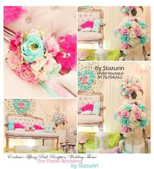 Pelamin Sanding Tiffany Pink Inspirasi Tiffany Wedding Theme 2013&2014