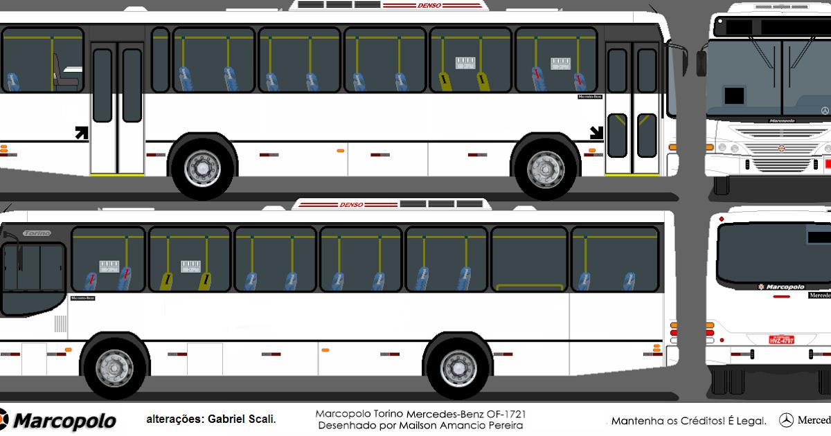 Marco Polo Torino : Desenhos de Ônibus marcopolo torino mb c ar em branco